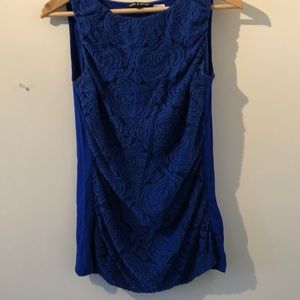 🦋3/$30SzL indigo blue sleeveless tank top